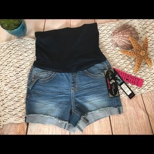 Haute Mama Denim Shorts Small NWT